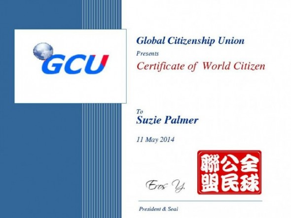 Certificate of World Citizen