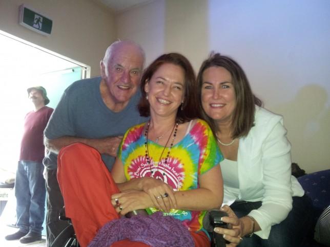 Dad, Belinda O'Neil, and me